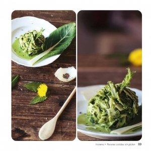 """Espaguetis vegetales """"maltagliati"""" de hinojo en salsa de acelga y cebolleta"""