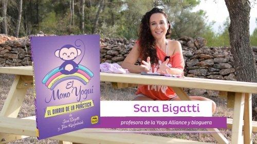 El mono Yogui, ¡tu diario para practicar yoga! Presentado por la autora Sara Bigatti
